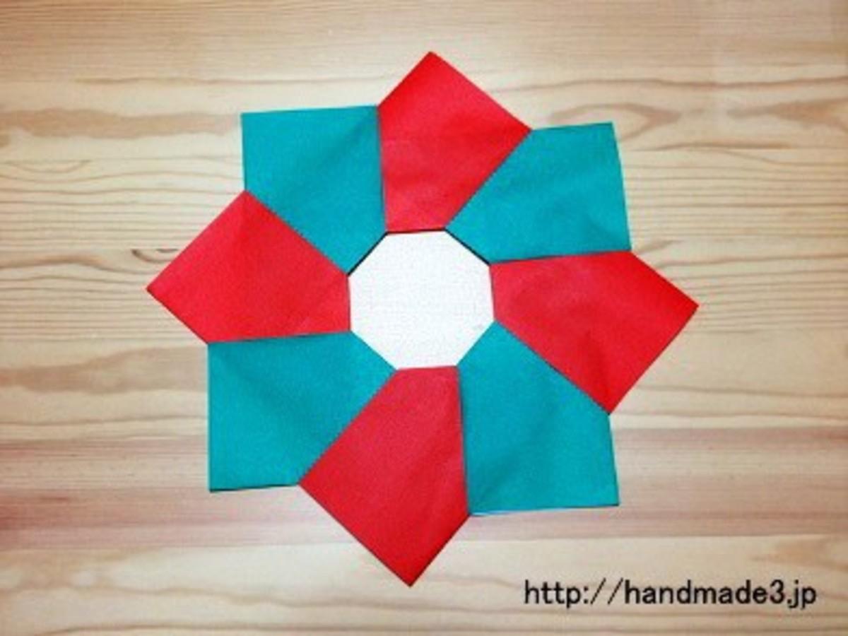 折り紙 リース