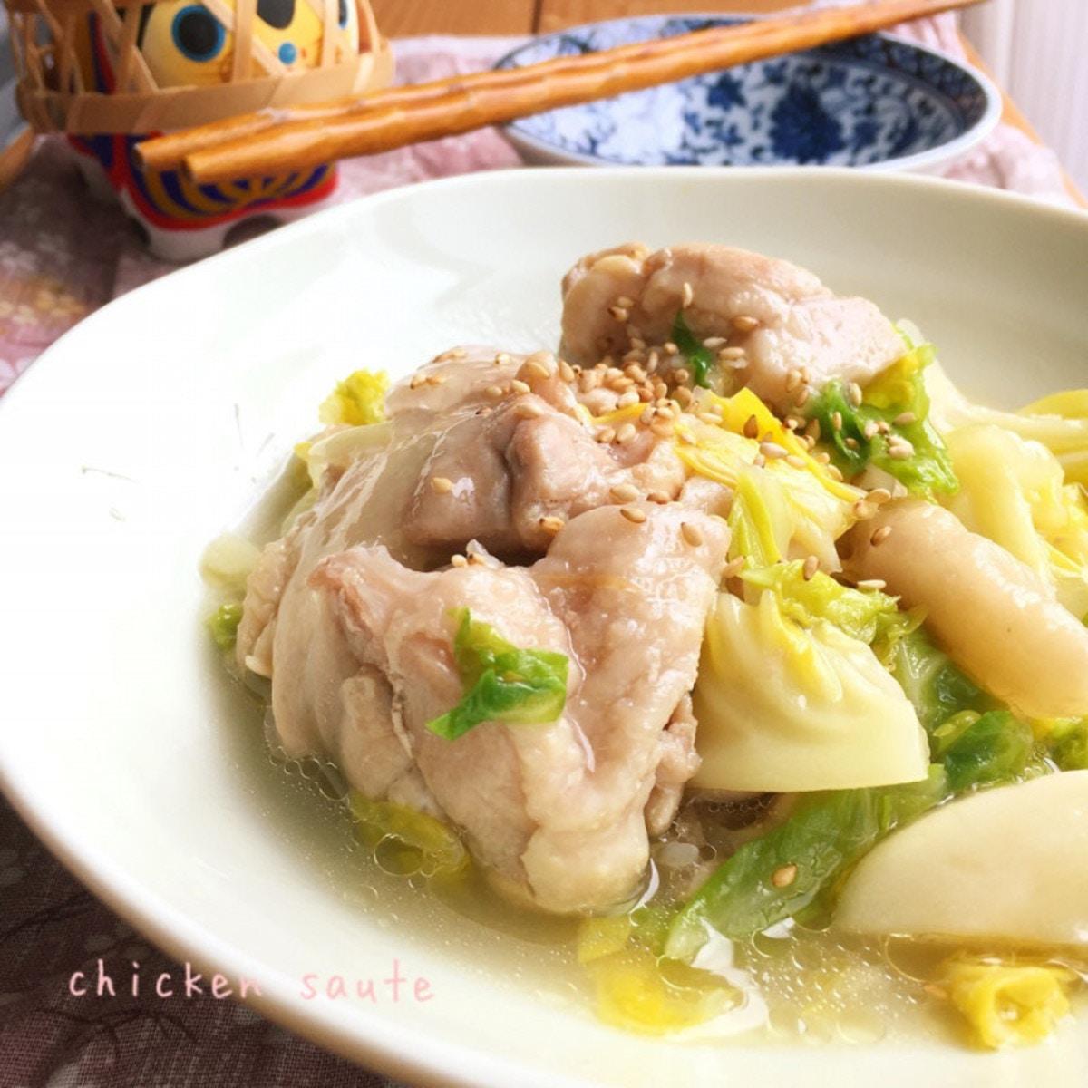 鶏肉とキャベツの炒め