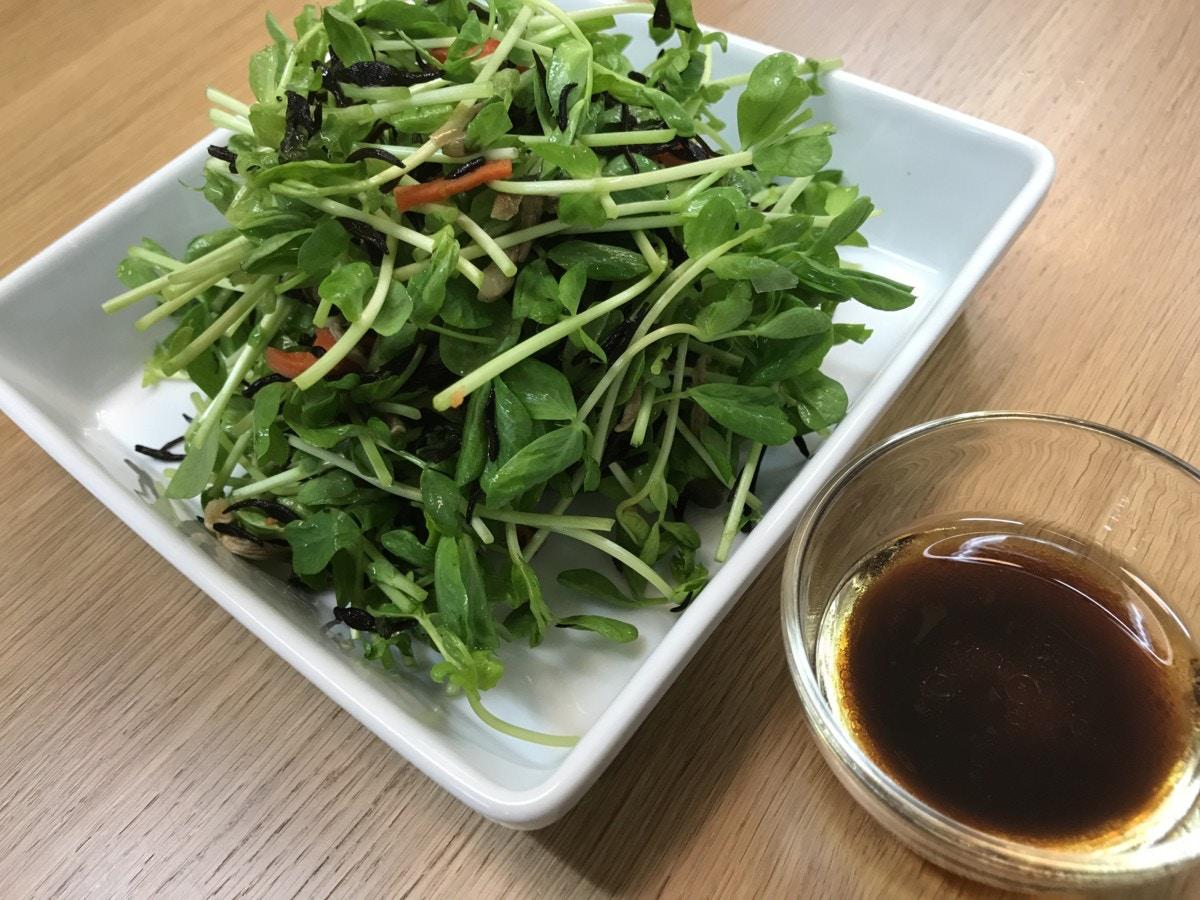 ひじきと豆苗のサラダ