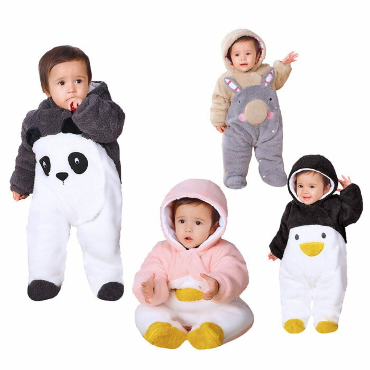 ベビー 着ぐるみ パンダ ペンギン ウサギ