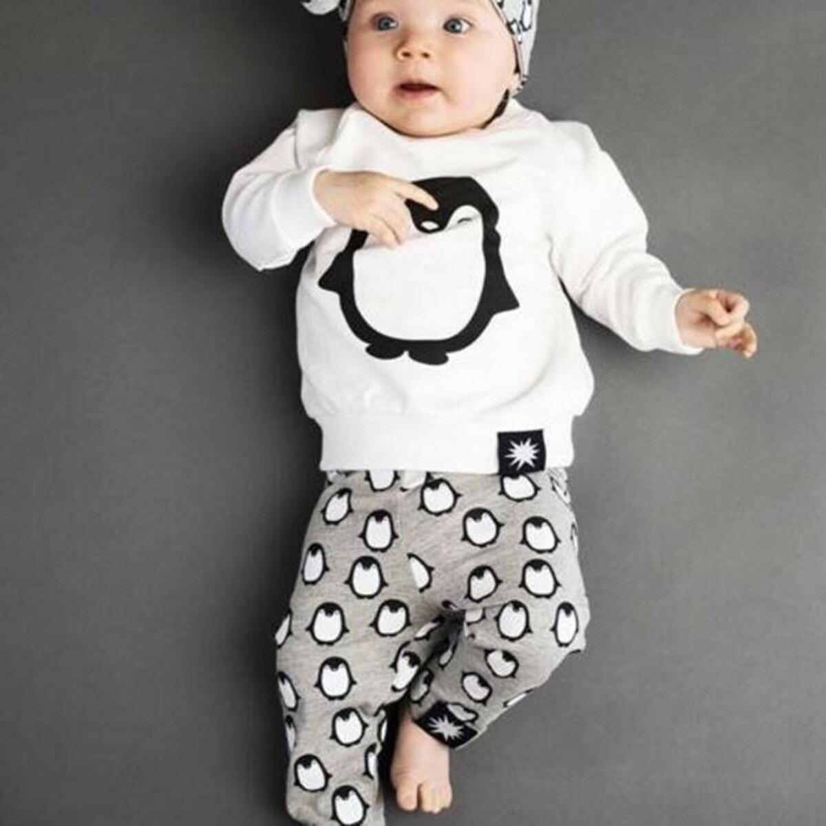 赤ちゃん セットアップ 上下セットカットソー ロング パンツ
