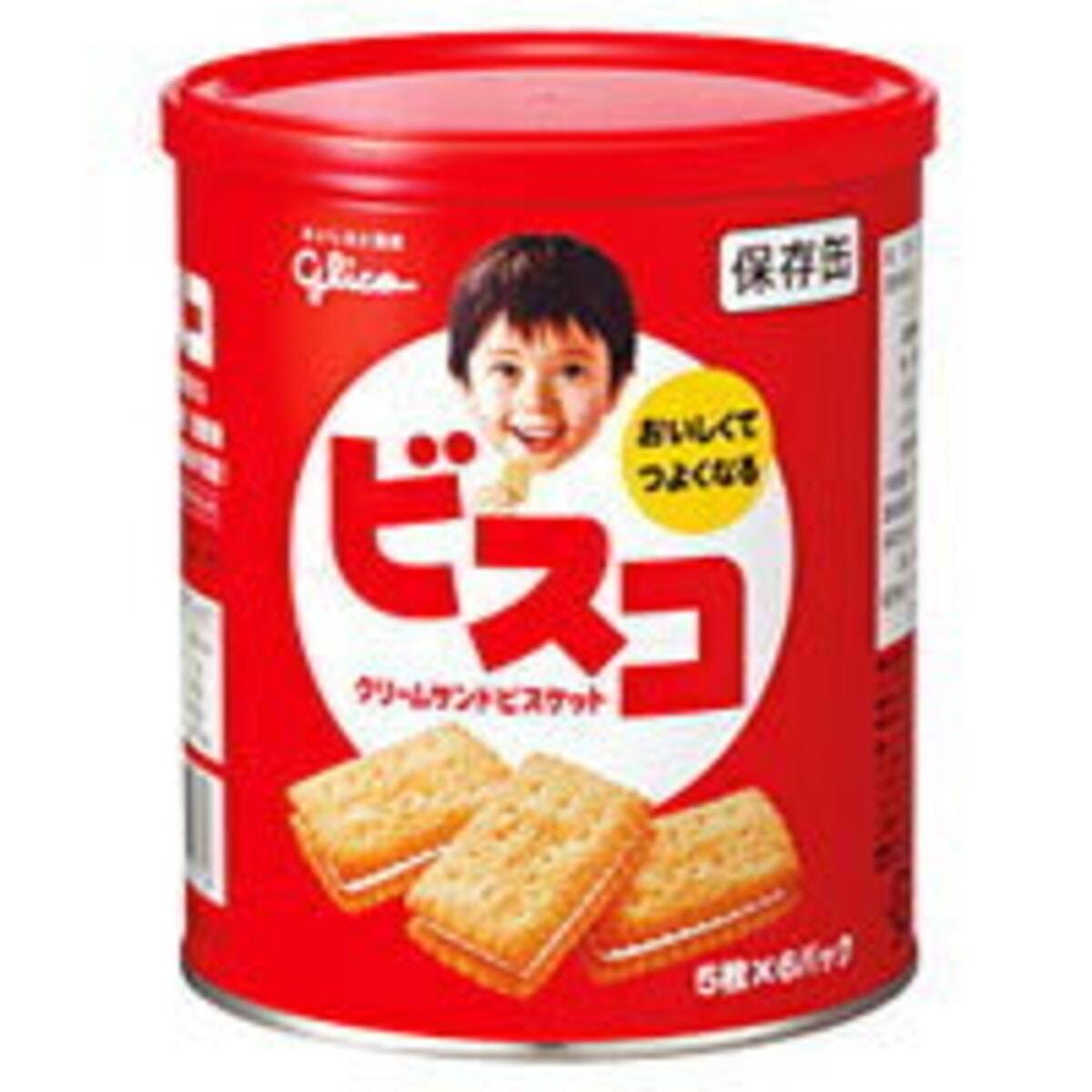 江崎グリコ ビスコ保存缶 30枚(5枚×6袋)
