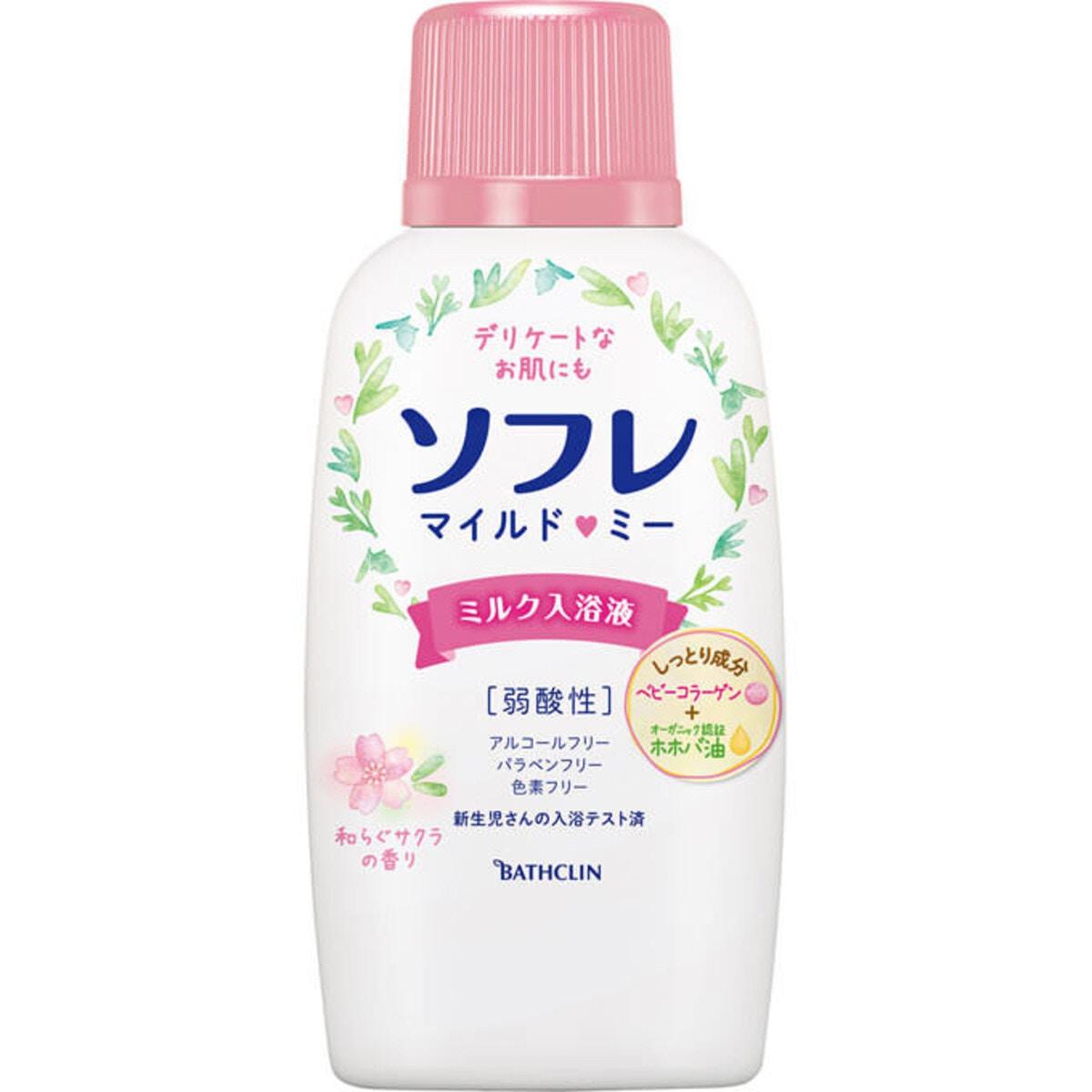 バスクリン ソフレマイルド・ミー ミルク入浴液 和らぐサクラの香り 720ml