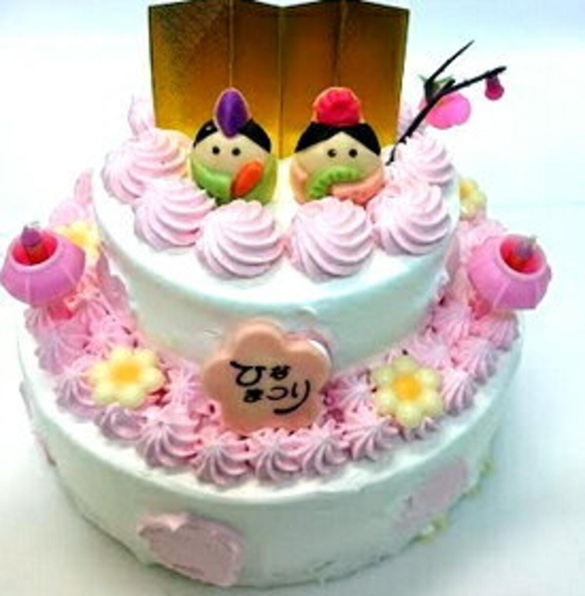 2段いちごのひな祭りケーキ3号×5号