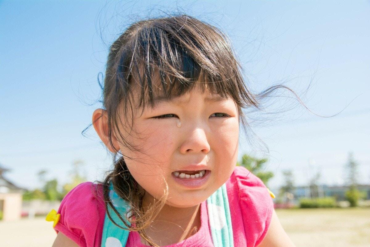 5歳 泣き顔