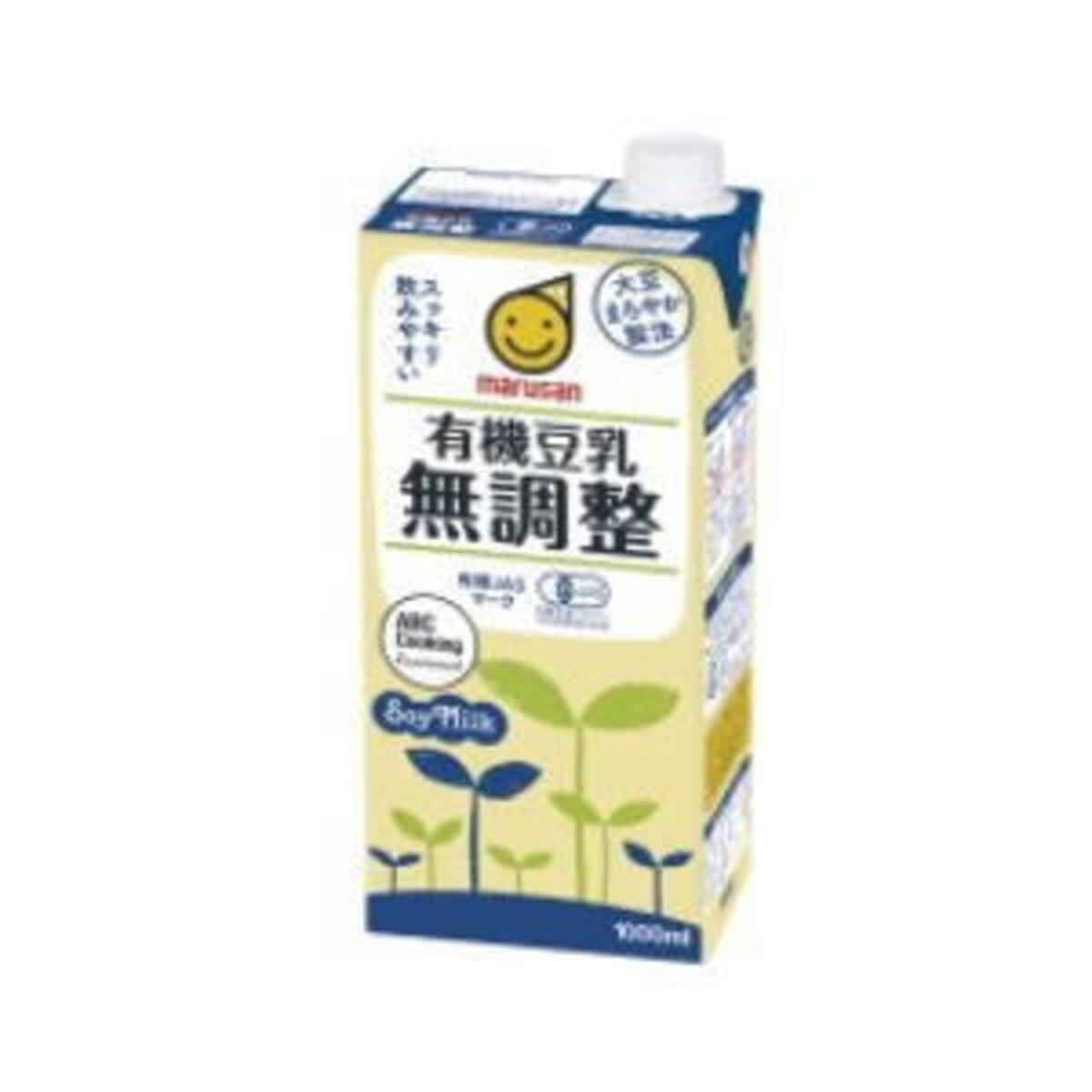 マルサン 有機豆乳 無調整 【1000ml】 紙パック×6個入