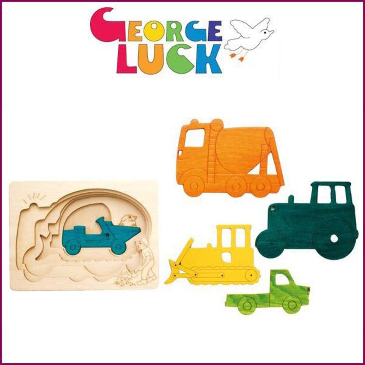 ジョージ・ラック「ピープパズル はたらく車 」
