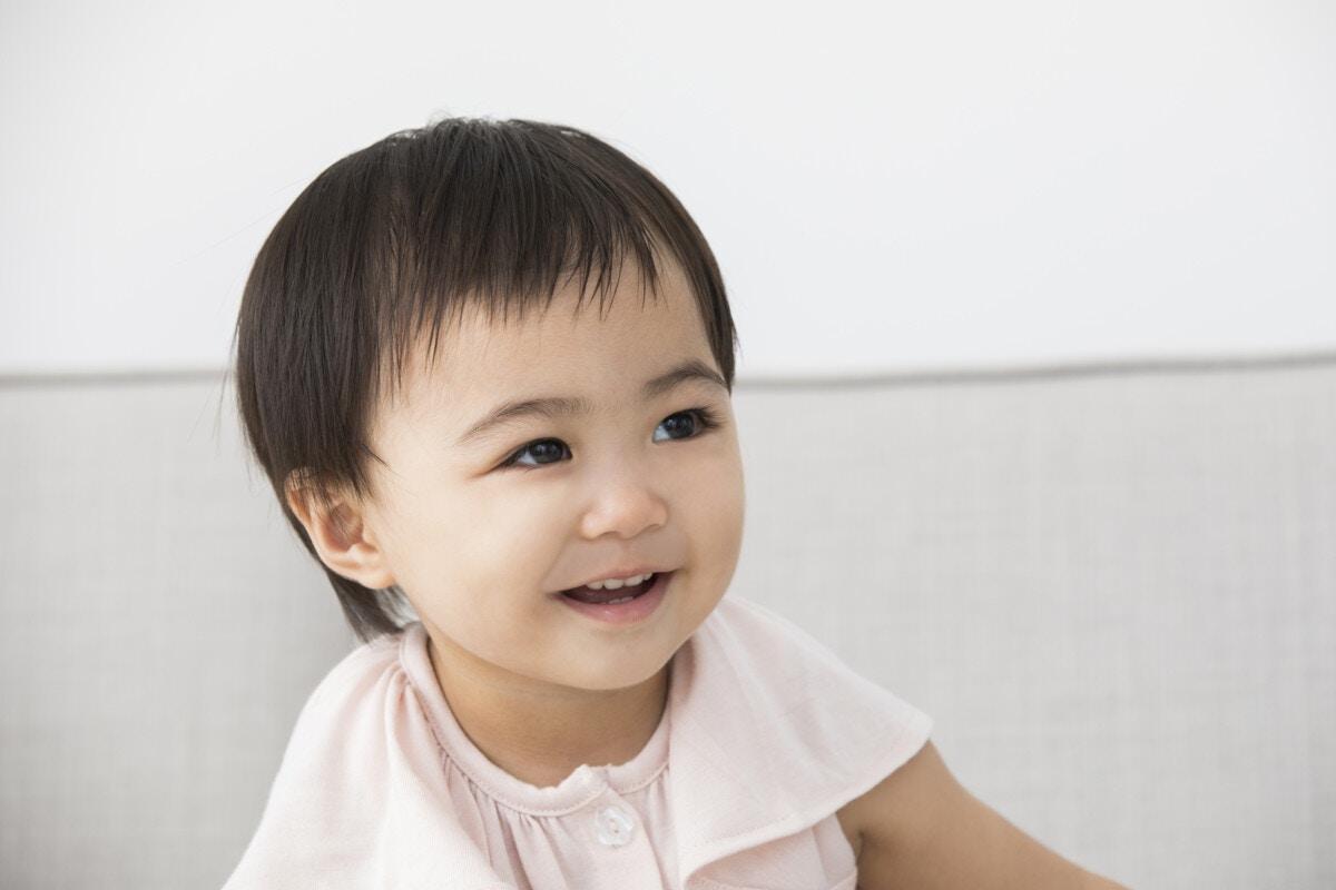 1歳 笑顔