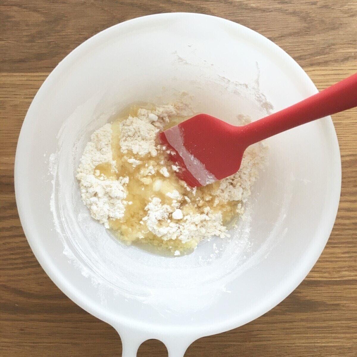 米粉のおやさいクッキー:混ぜる