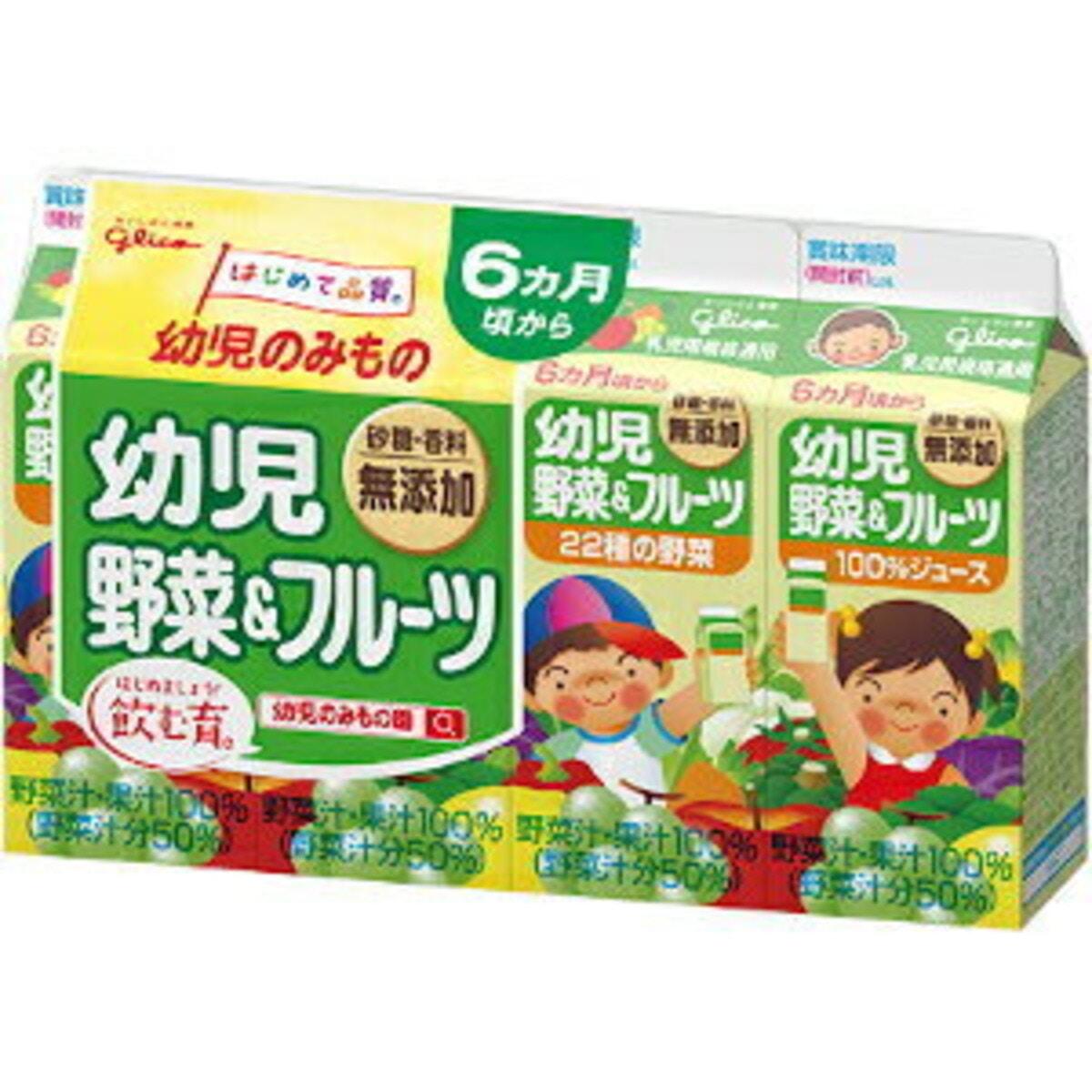 グリコ 幼児野菜&フルーツ 4P 6パック
