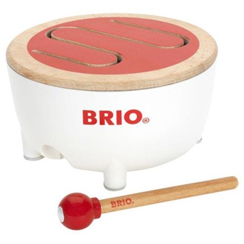 BRIO ブリオ BRIOドラム〜BRIOの赤ちゃんの木のおもちゃシリーズ。はじめての楽器にオススメのキッズドラムです。【02P05Oct15】
