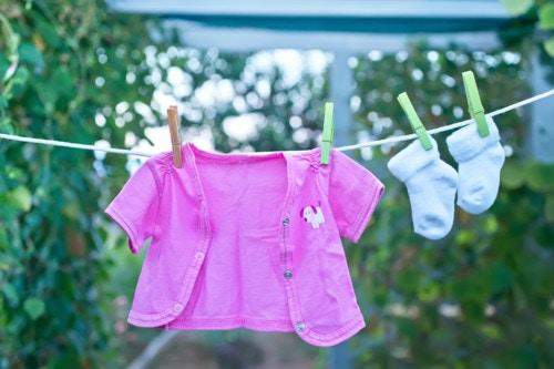 洗濯もの 干す 家族