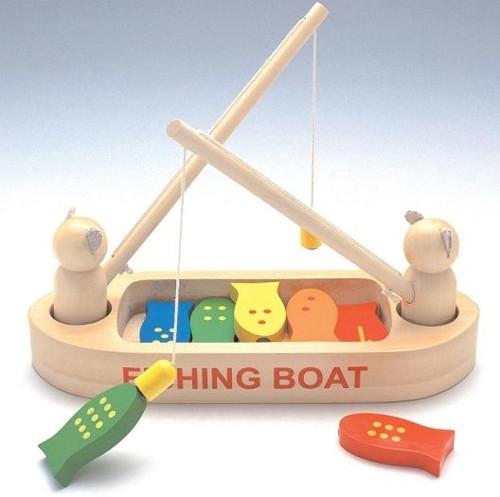木のおもちゃ フィッシングボート釣りゲーム