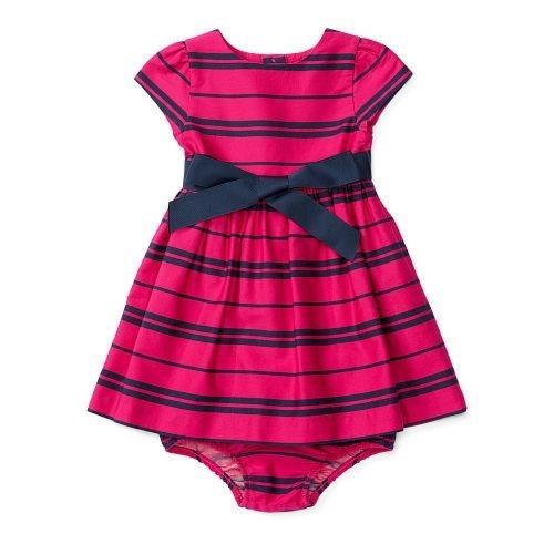 Polo Ralph Lauren Baby Girl Striped Sateen Dress