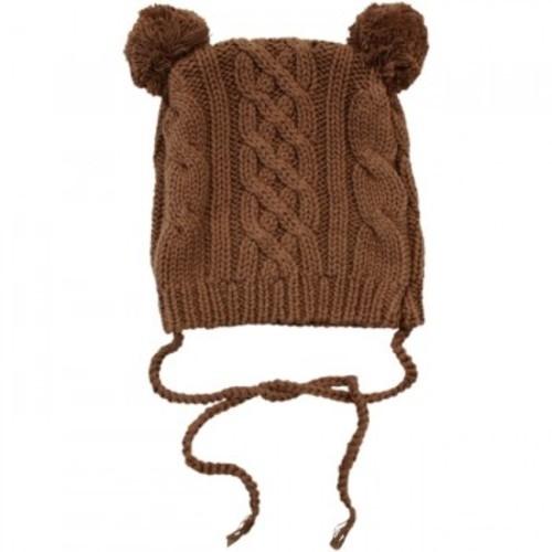 ベア・ニット帽(knit hat)(Chocolate)