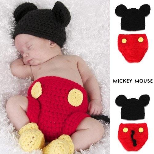 ベビー 衣装■Disney ミッキーマウス 写真撮影用 衣装3点set
