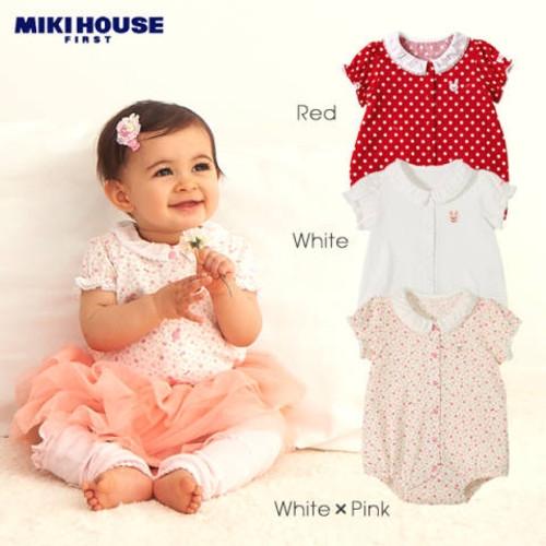 ミキハウスファースト【MIKI HOUSE FIRST】うさちゃんのお衿つきお出かけボディシャツ