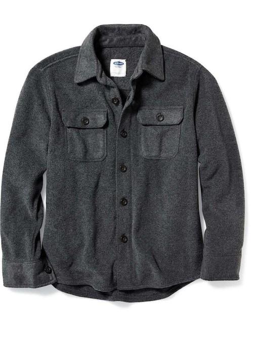 オールドネイビー 子供服 男の子 キッド ボーイ (5〜13才)  マイクロフリースシャツジャケット