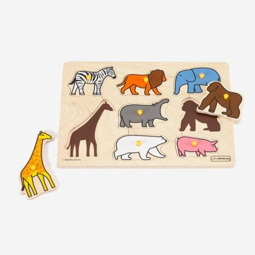 ボーネルンド ピックアップパズル 動物園 木のおもちゃ