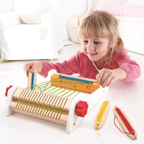 木のおもちゃ ハペ/Hape はた織り機(4歳から)