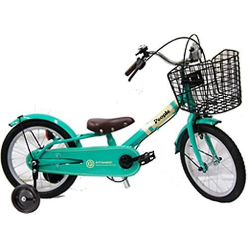 16インチ 子供用自転車 ピッタンコ自転車MarkII エメラルド