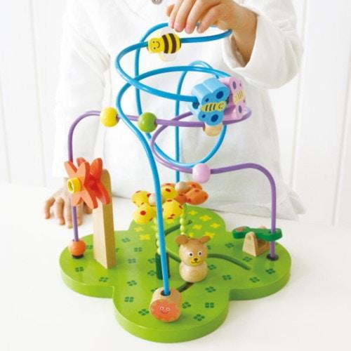 知育玩具 ビーズコースター おさんぽくまさん