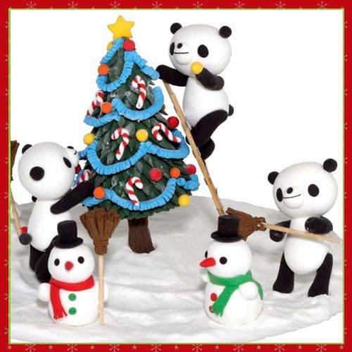 天使のねんど工作キット パンダのクリスマス