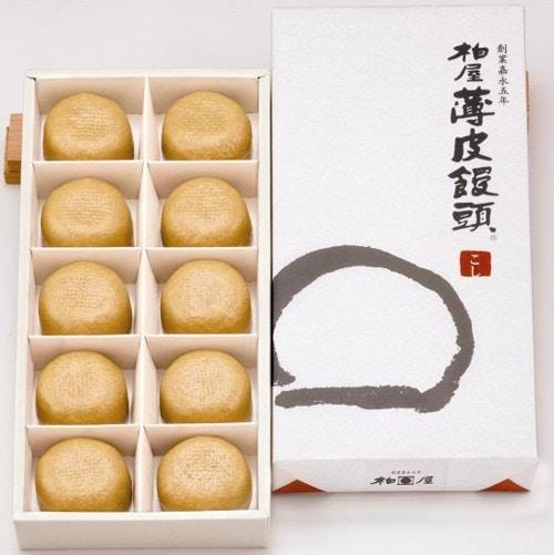 柏屋薄皮饅頭こし(10個入)