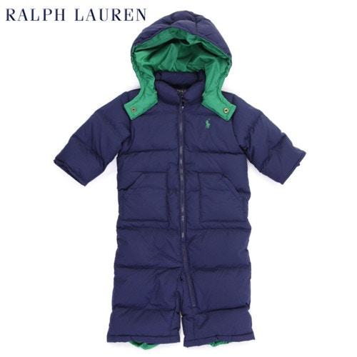"(9M-24M) POLO by Ralph Lauren ""INFANT BOY"" Down Hooded Suit Bunting USラルフローレン (幼児用)ベイビーサイズ ダウン カバーオール"