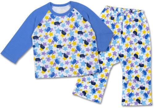 ベアボックス 星とクジラさん 長そでパジャマ(80cm/90cm/95cm/100cm)
