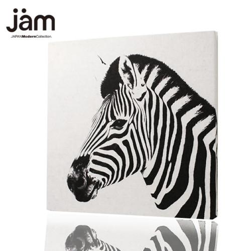 動物の横顔 Zebra(シマウマ)ファブリックボード