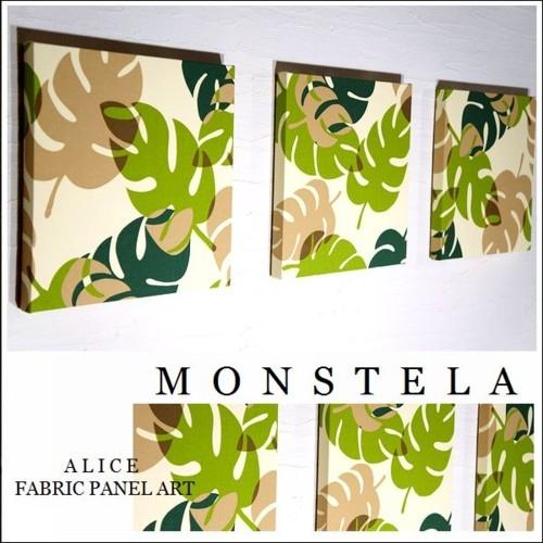 ファブリックパネル Hawaiian N-MONSTELA 30×30cm 3枚セット