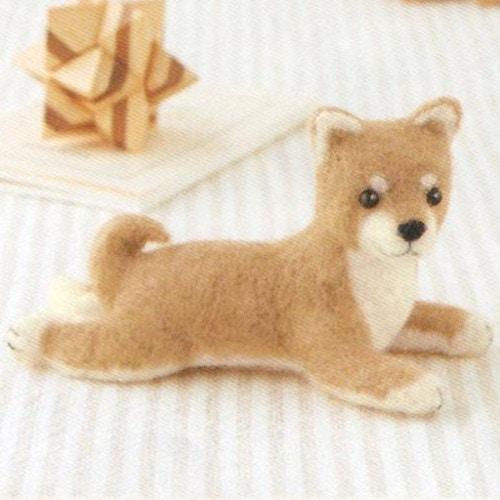 フェルト羊毛キット 柴犬(ふせポーズ)
