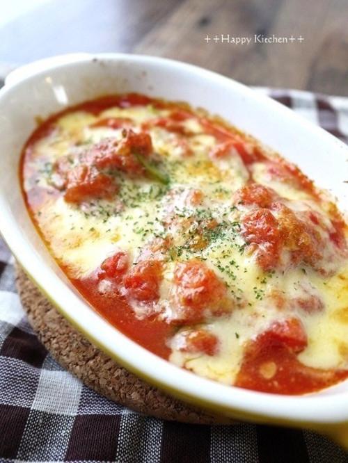 餅トマトチーズ焼き