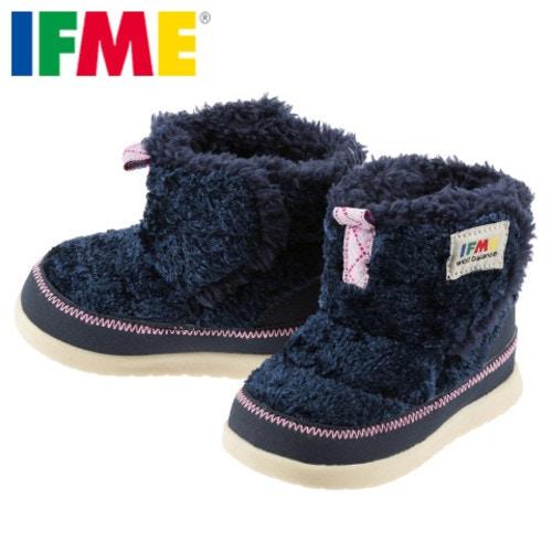 【スペシャルプライス】[イフミー] IFME 30-5706 ベビー | キッズブーツ ベビーブーツ | 子供靴 キッズ用ショートブーツ | 防寒 暖かい | イフミー 人気 | ネイビー