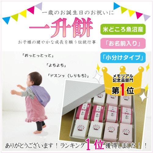 一歳の誕生日のお祝いに『一升餅』(小分け角餅タイプ)