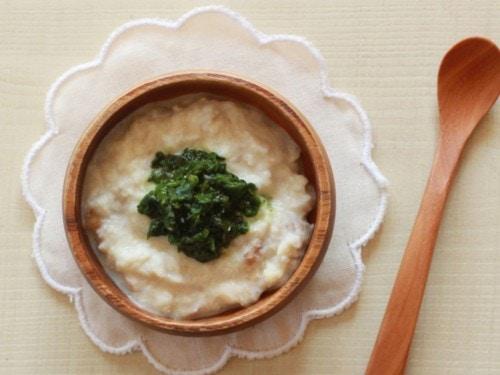 1.冬野菜と魚の豆乳ポタージュ