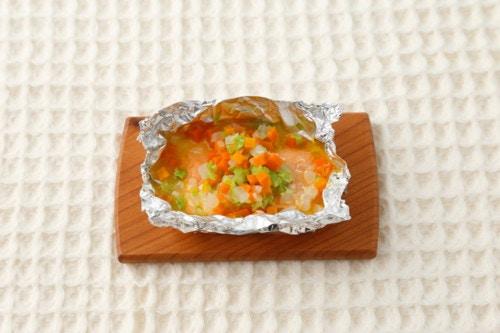 鮭のみかんホイル焼き
