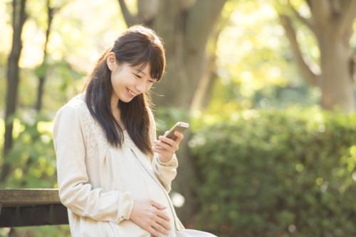 スマホ 妊婦