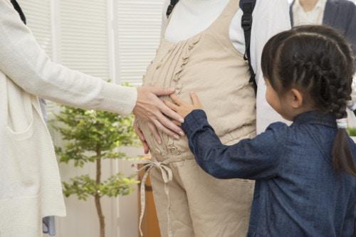 妊婦 触る