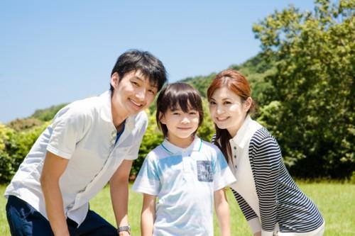 家族 写真 緑