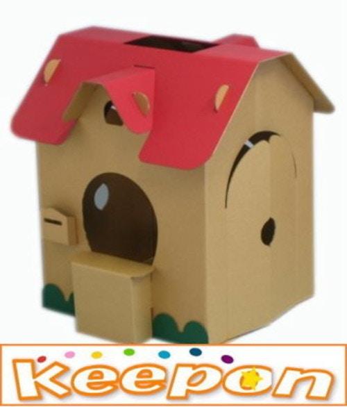 すまいるキッズハウス子供のための、おもちゃのダンボールハウス
