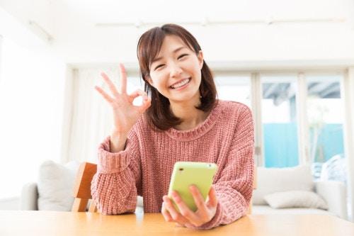 スマホ 女性 日本人