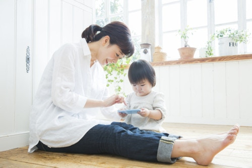 携帯 ママ 赤ちゃん