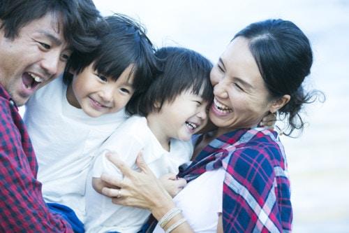 家族 笑顔