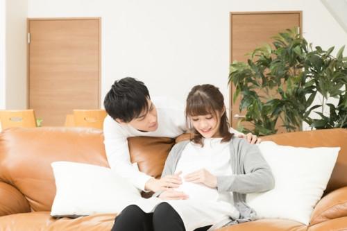 妊娠中 夫婦