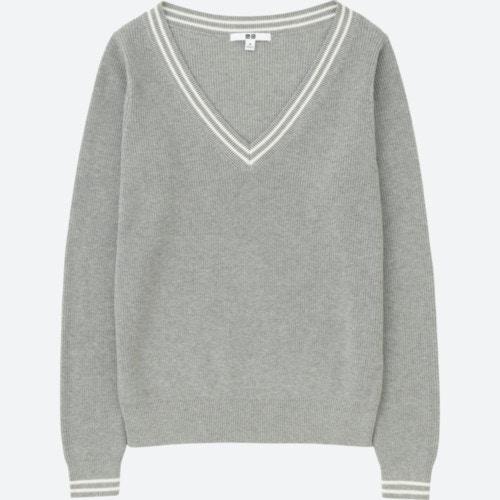 ユニクロ コットンカシミヤクリケットセーター