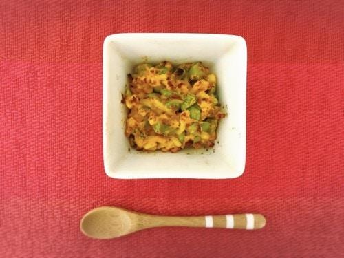 カボチャと枝豆のグラタン