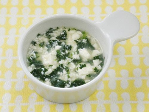 ほうれん草と豆腐のスープ