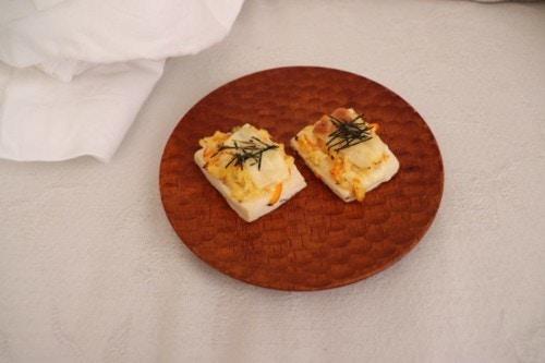 豆腐の和風ピザ